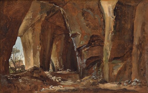 Study from Nature, grotto by Naples