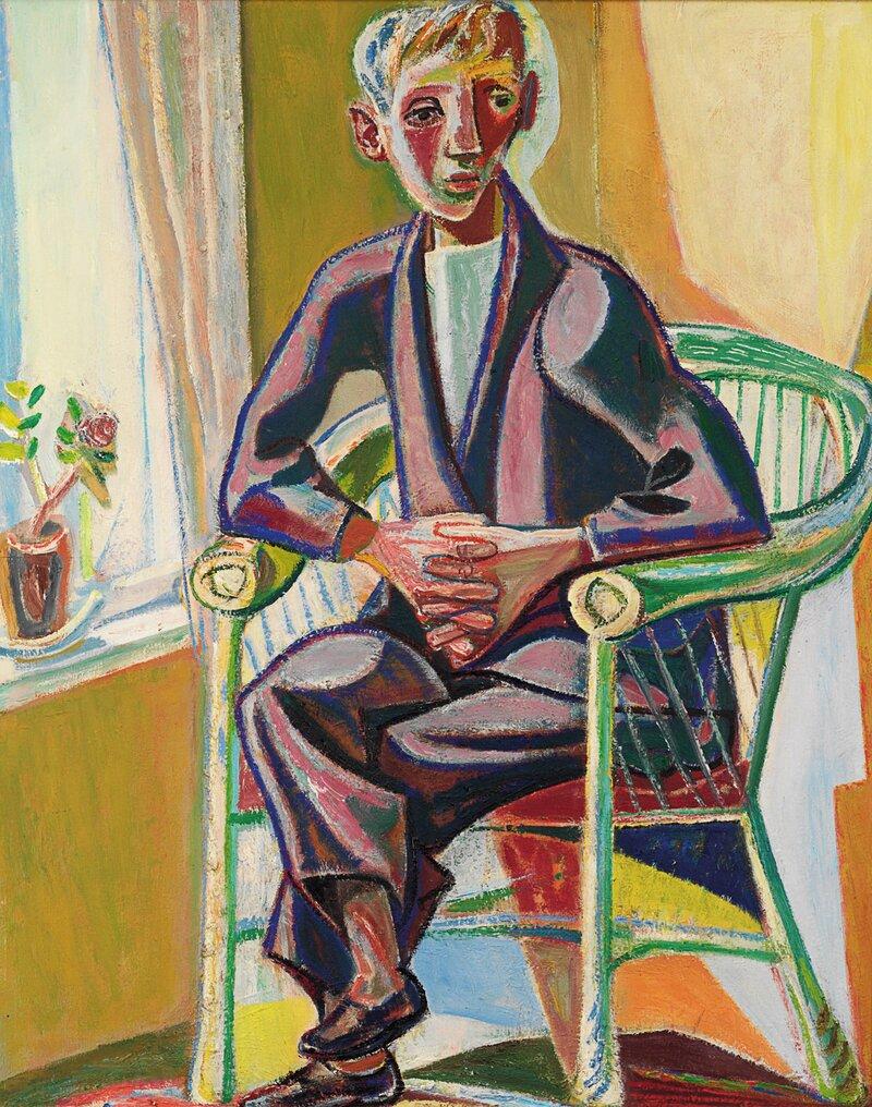 Mann i kurvstol 1949-50