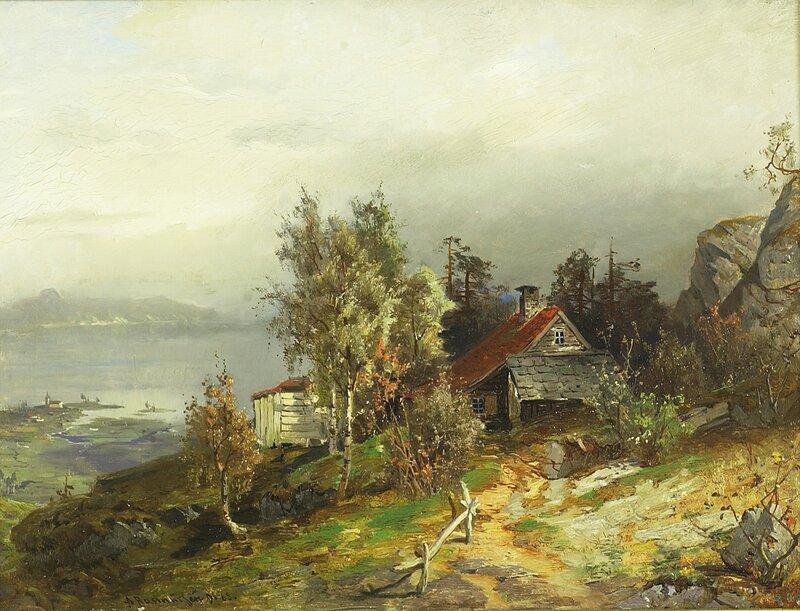 Kystparti med småbruk 1868