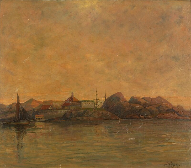 Fra Citadeløya i Fredriksvern 1900