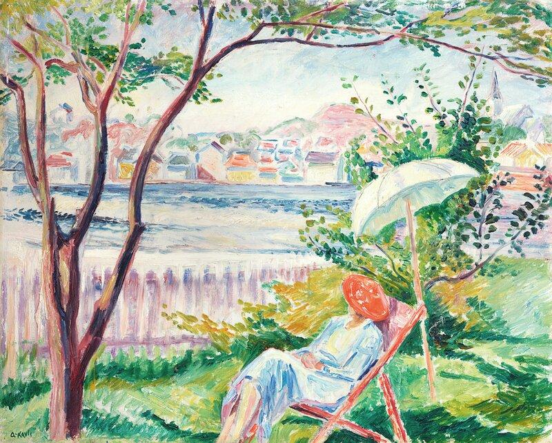 Kvinne i fluktstol, Rønnes