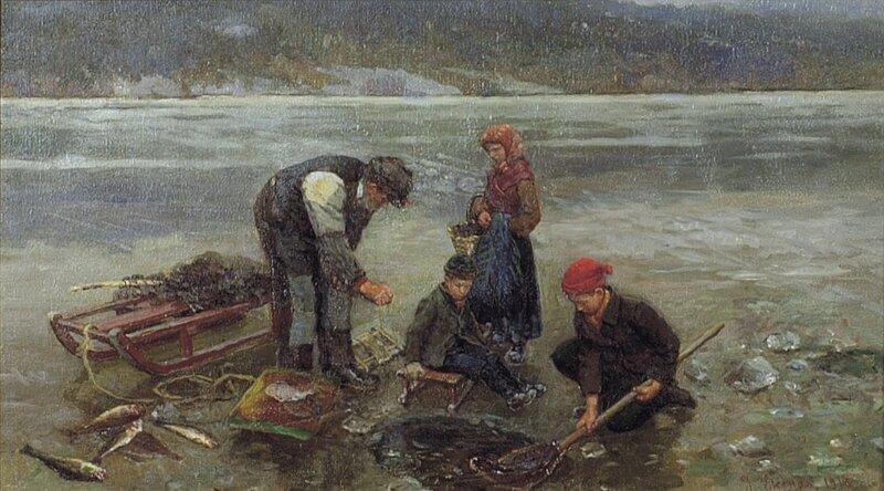 Isfiske 1916