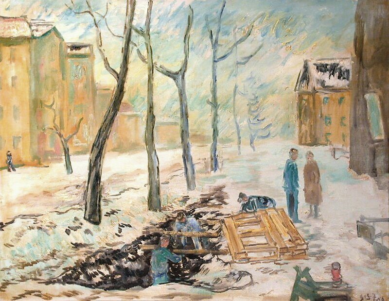Gatearbeide, vinter 1948