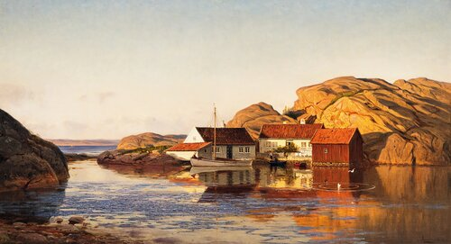 Aften i Ny-Hellesund 1914