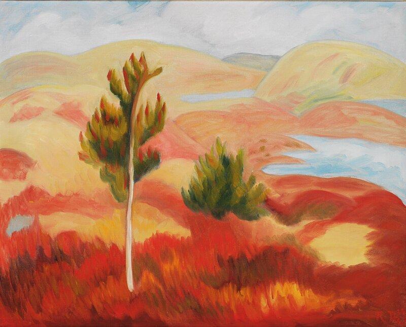 Landskap i rødt 1937