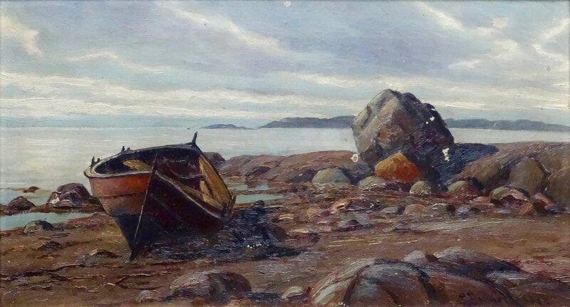 Robåt på strand 1905
