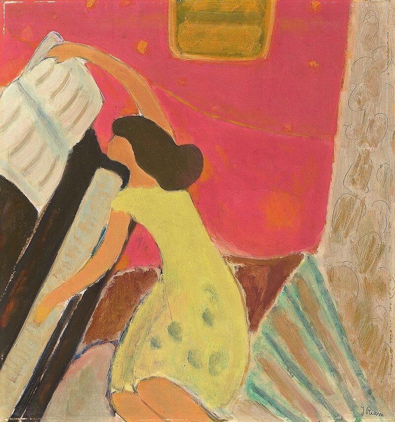 Kvinne ved piano