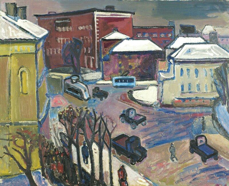 Fra Drammensveien i Oslo 1947