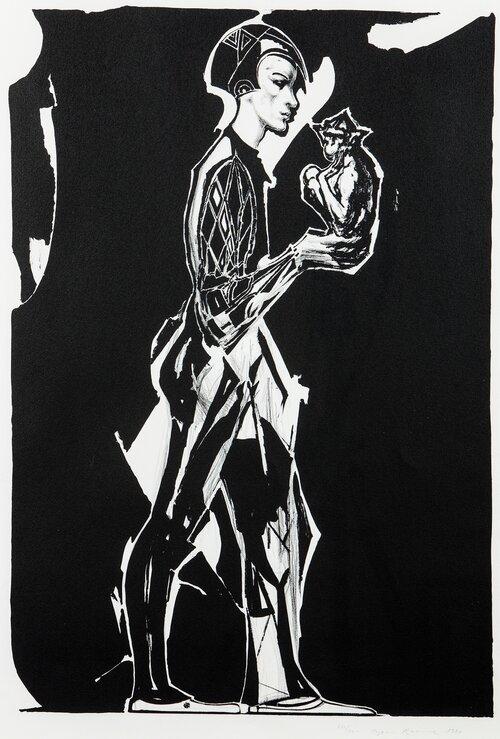 Harlekin med ape 1987