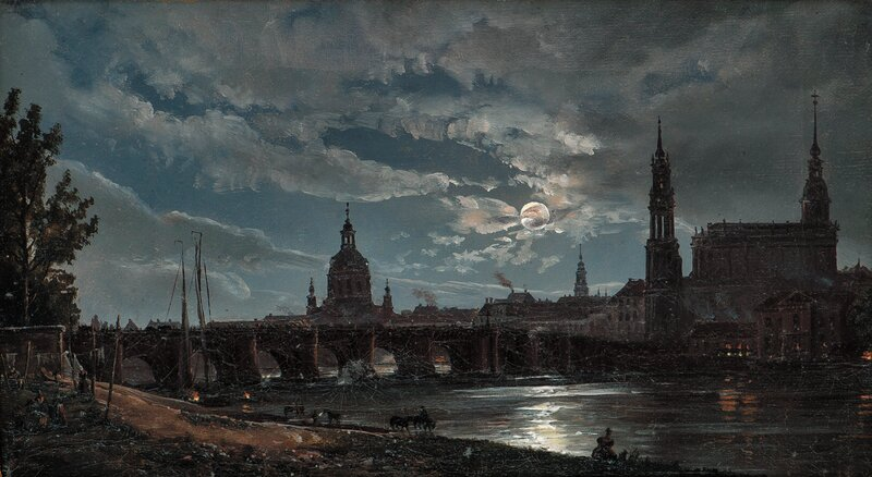 Dresden i måneskinn