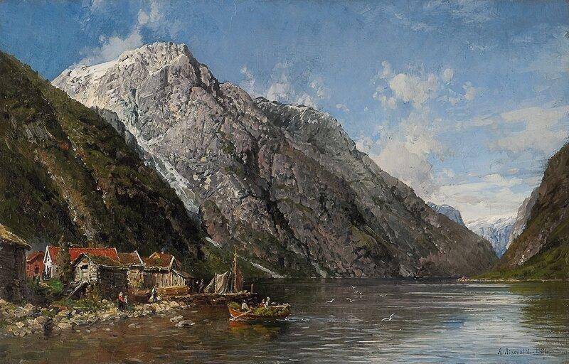 Ved Dalen i Nærøfjorden 1886