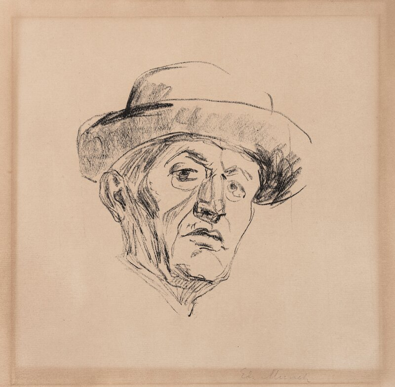 Self-Portrait with Hat I