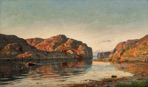 Morgen ved Ny-Hellesund 1895