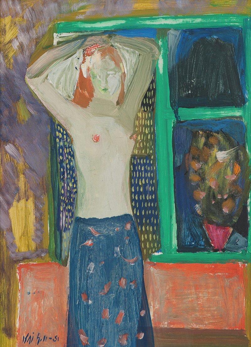 Kvinne i interiør 1951