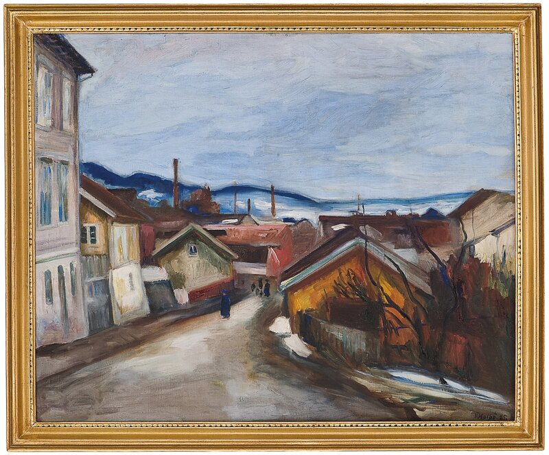 Vårkveld i Lillehammer 1925