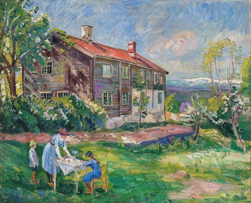 Fra Ringerike mot Norefjell 1914