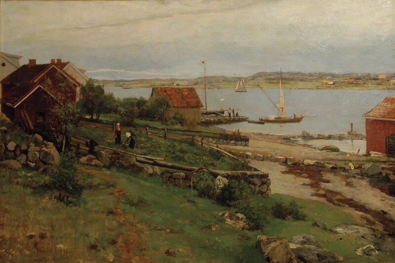 Skjærgård med havneparti 1882