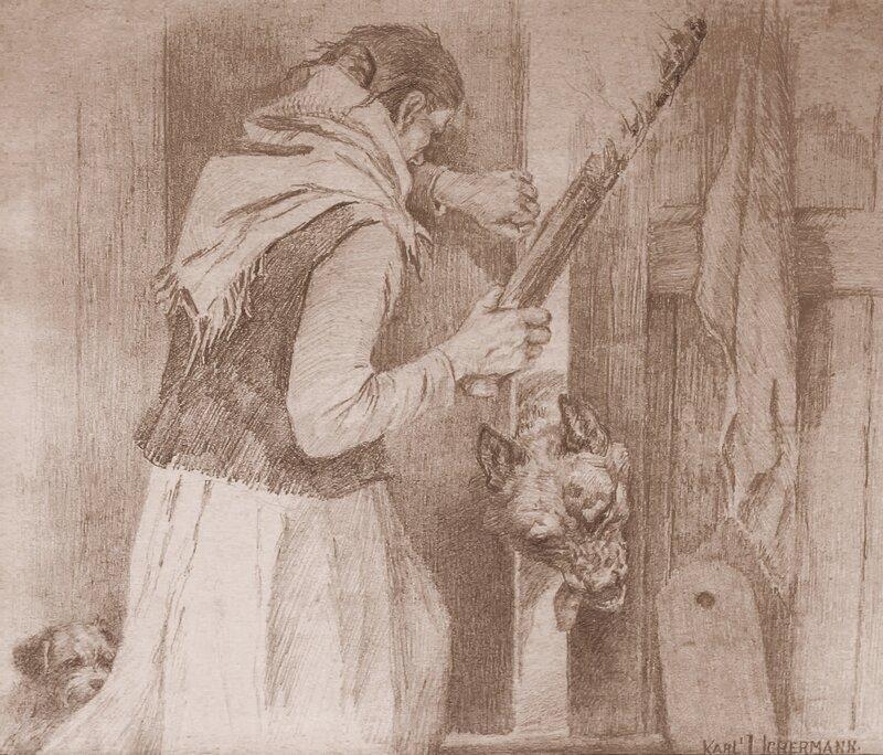 Kvinne stopper ulv i døren