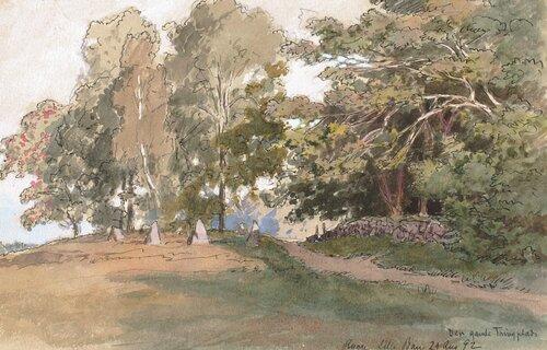 Den gamle Tingplass, Rygge 1892