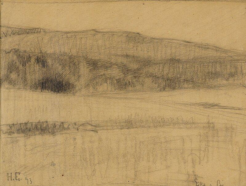 Skisse til Lørdagskveld 1893