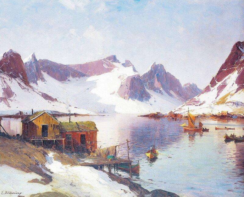 Havn i Lofoten - vinter