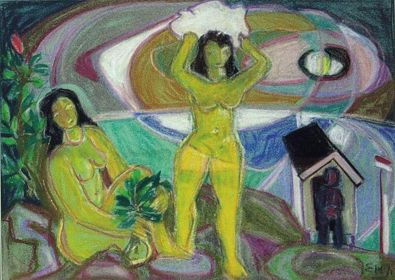 Badende kvinner