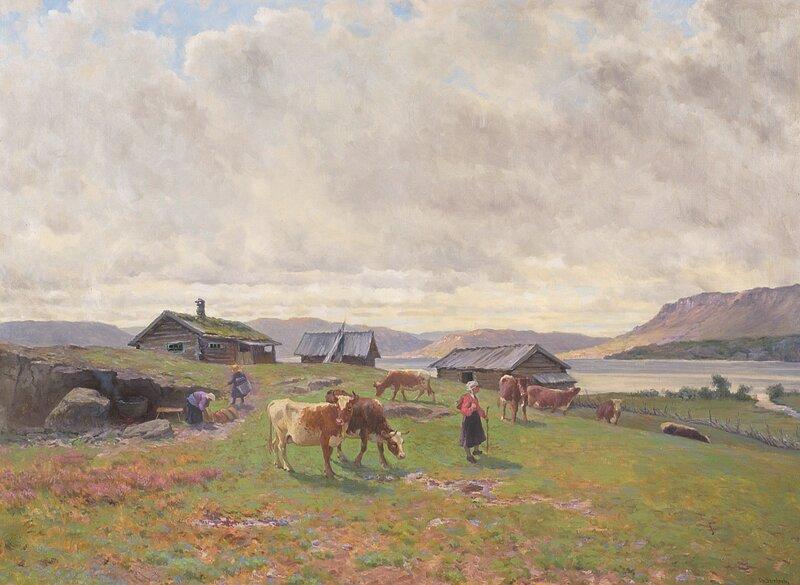 Morgenstemning på Holmvassbu