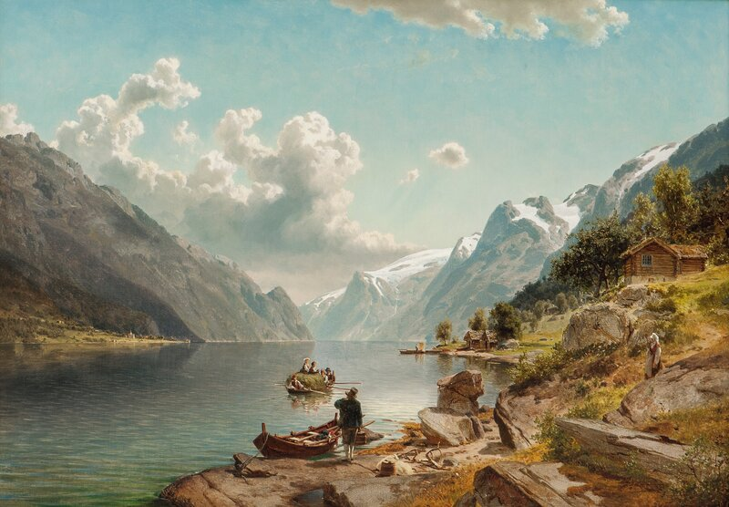 People in Sørfjorden (the Southern Fiord), Hardanger 1860