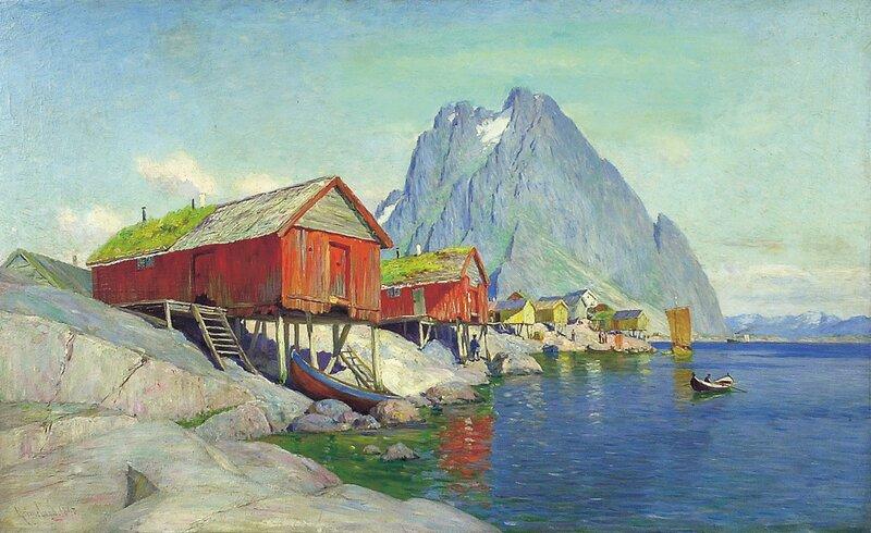 Fiskeboder Svolvær i Lofoten 1893