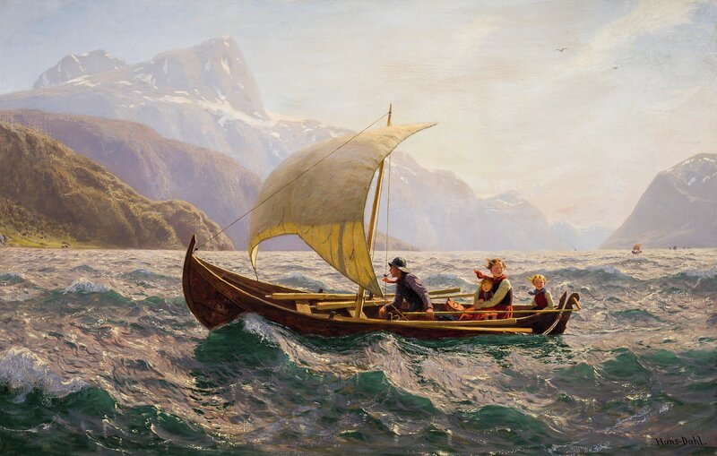 Boats coming home, Western Norway