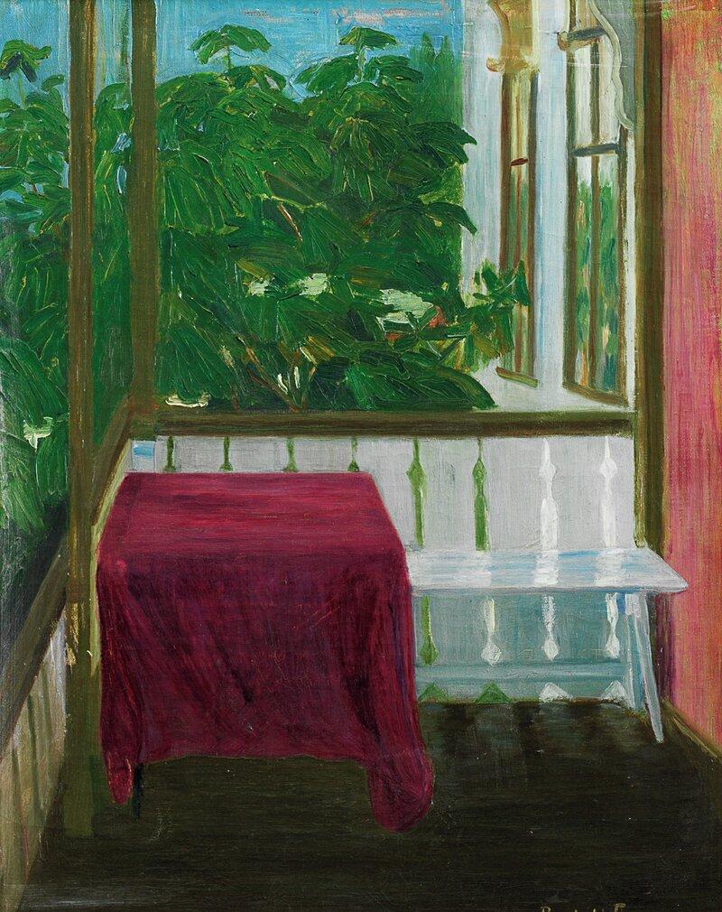 På altanen