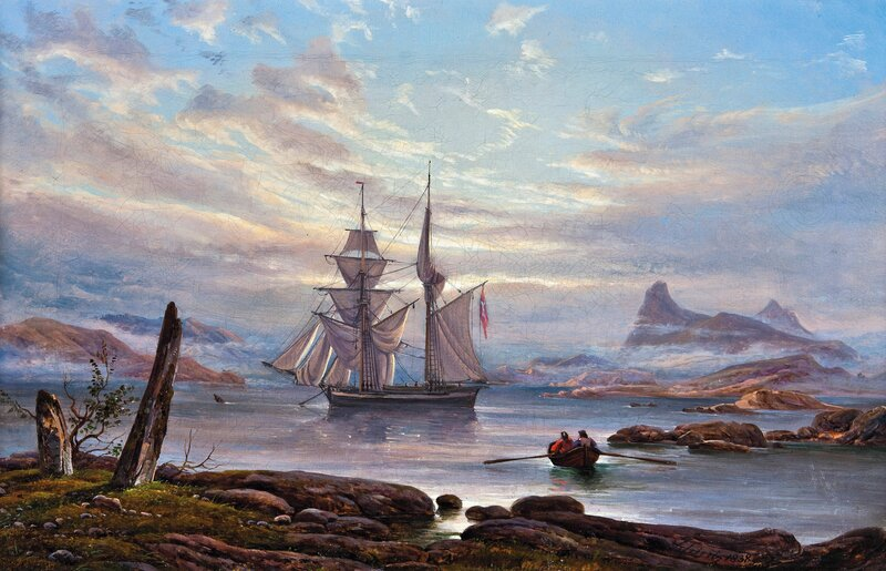 Bautastener på Nordnes ved Fimreite i Sogn 1838