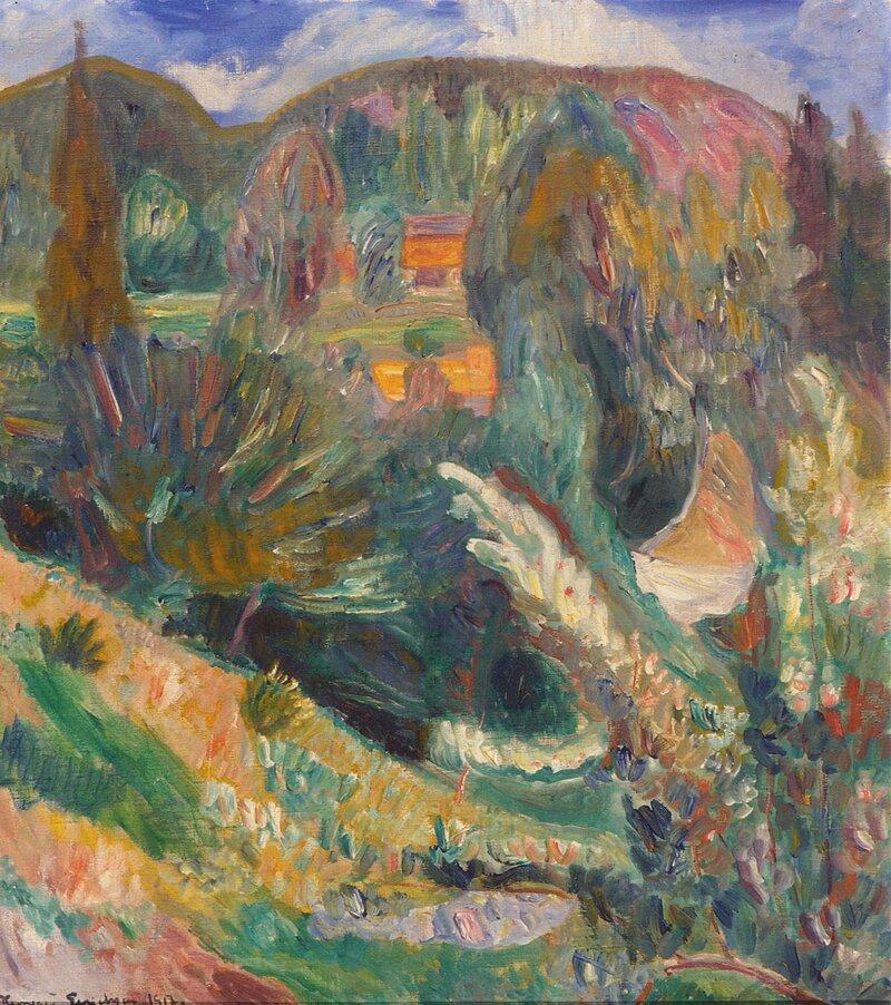 Sommerlandskap 1917
