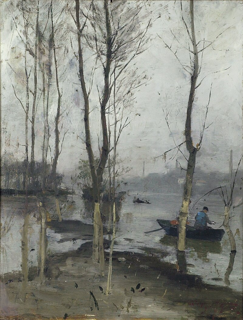 Elveparti med fisker 1879