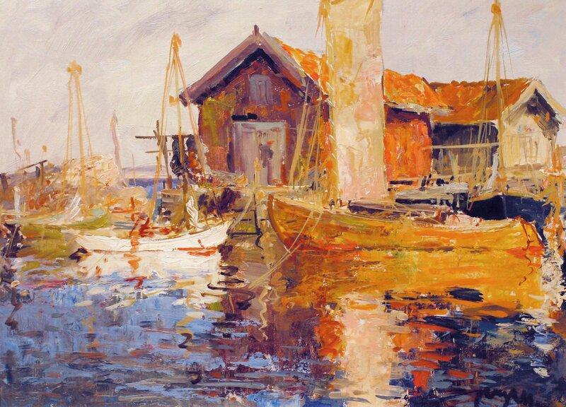 Båter ved brygge