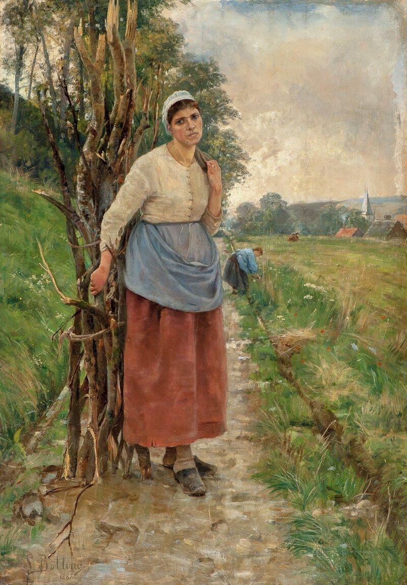 Fatiguée. Bondekone fra Normandie 1888