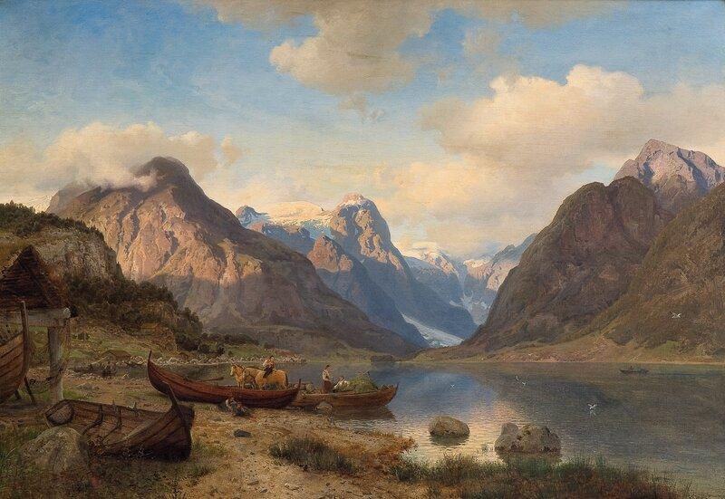 Indre Fjærlandsfjord i Sogn 1857