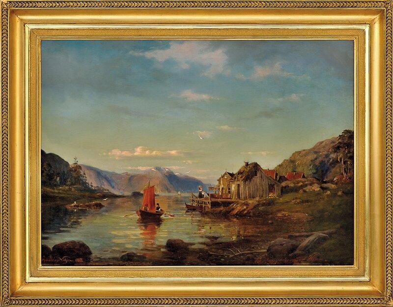 Fra Rogndalsvåg ved Kinn 1862