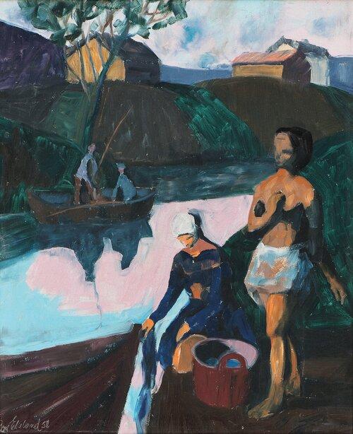 Ved elven 1950