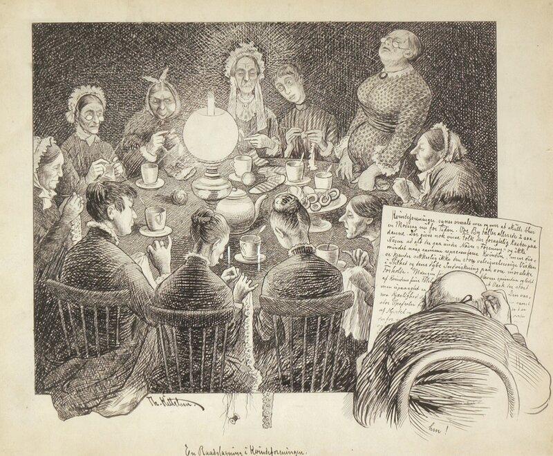 En rådslagning i kvinneforeningen