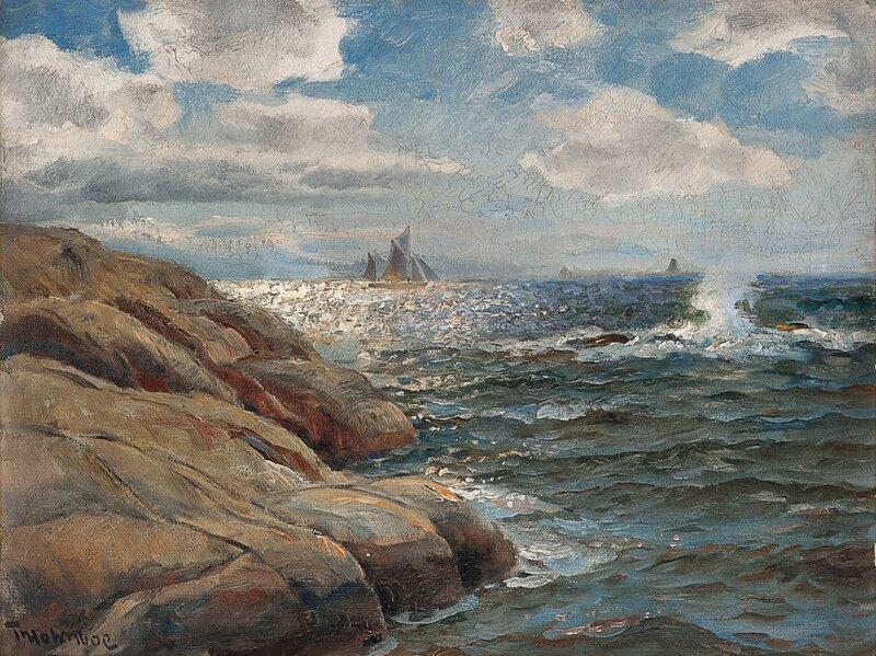 Seilskute i kystlandskap