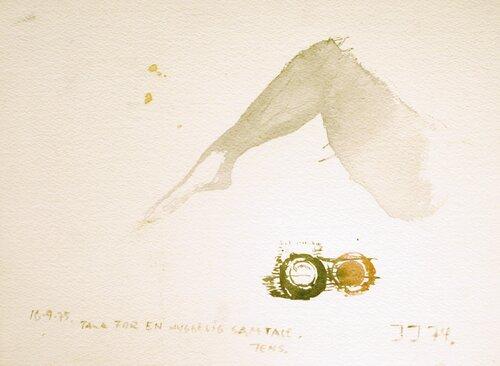 Komposisjon med et ben 1974