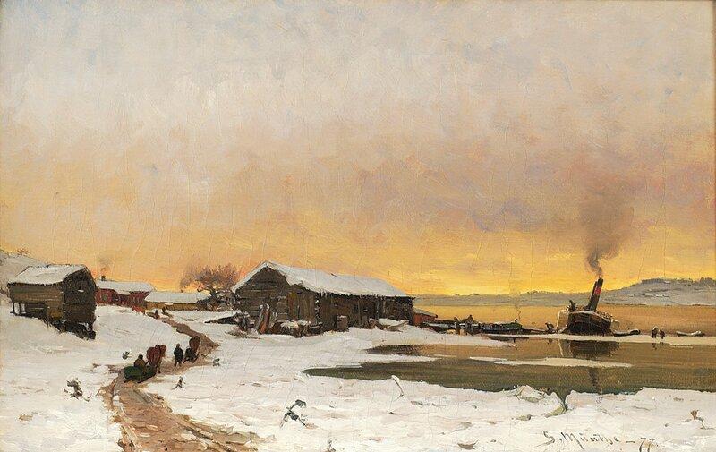 Fergested ved Mjøsa 1877