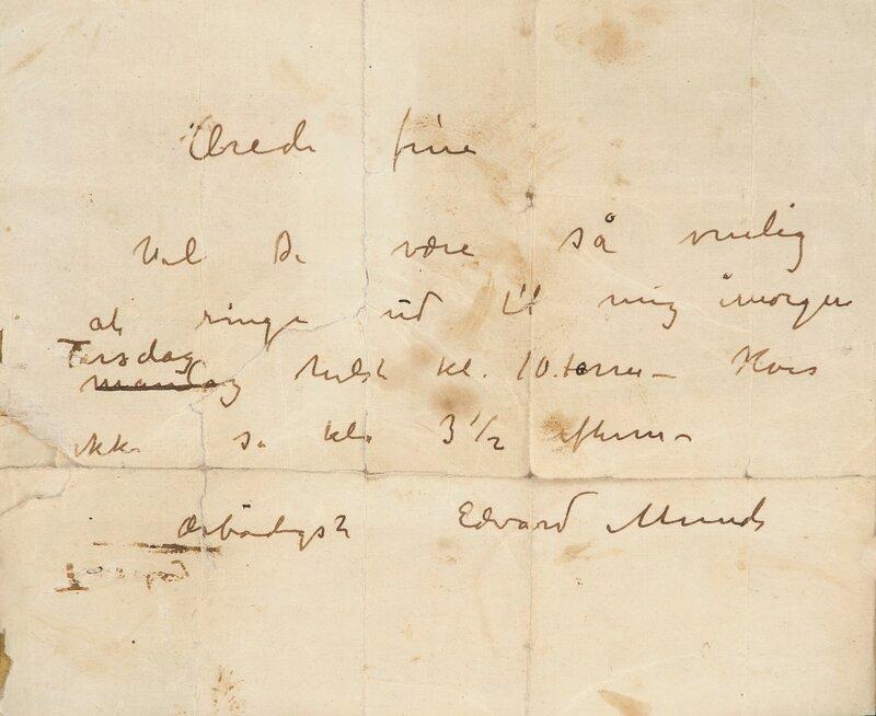 Letter from Edvard Munch