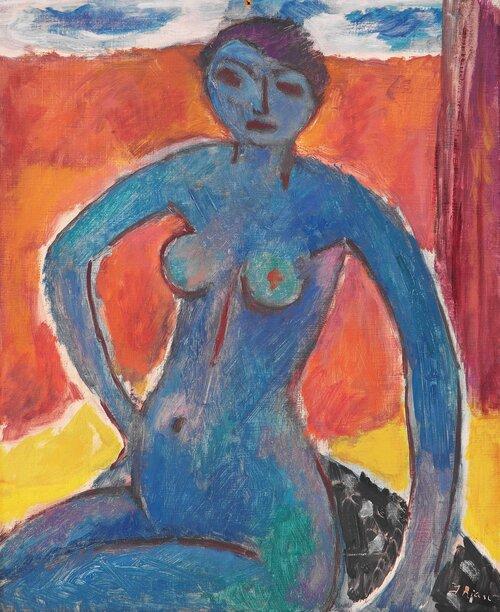 Blå kvinneakt