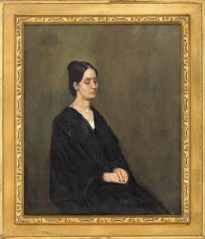 Kvinneportrett 1901