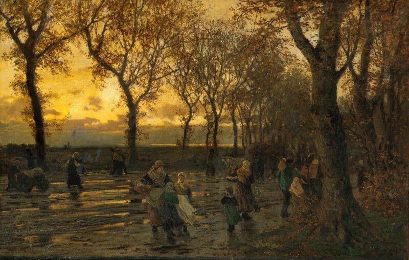 Folkeliv på landevei 1889
