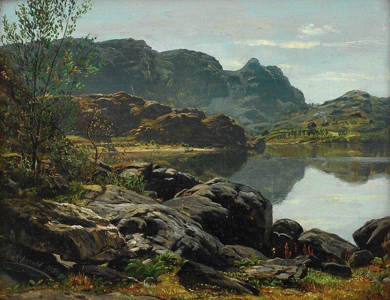 Landskap med innsjø 1853