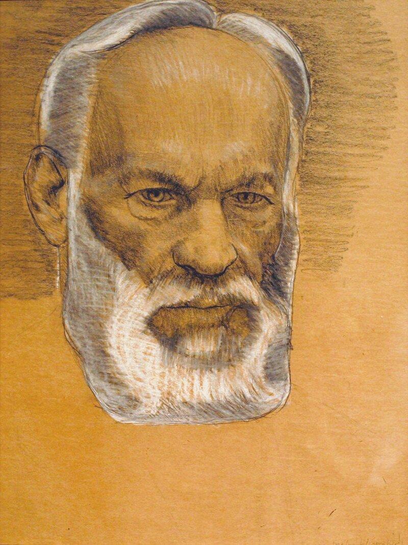 Portrett av faren Erik Werenskiold