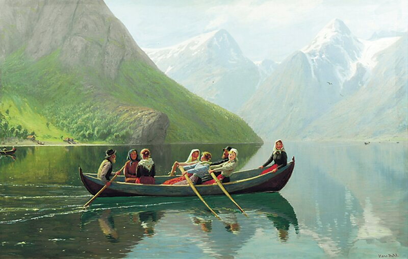 Til kirke på Strynsvannet i Nordfjord